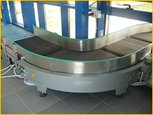 Curved conveyor belts